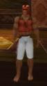 Dykocus: haut rouge q1 et pantalon blanc q1