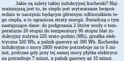 Płyta Indukcyjna Informacja O Zużyciu Energii