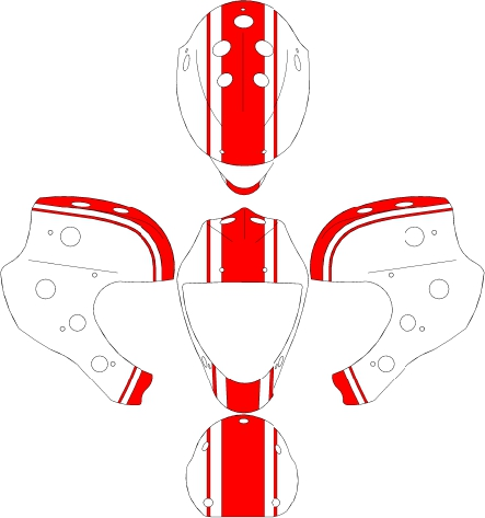Official help design a mask thread goalie store bulletin board but here are a few simple red white designs based on the race stripe design i just got done on my new covetedmask z combo same template maxwellsz