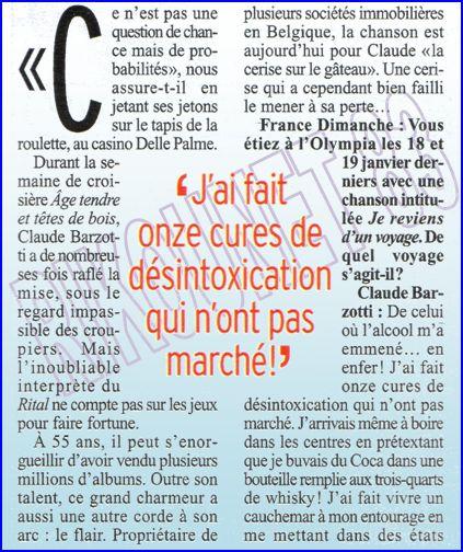 Blog de barzotti83 : Rikounet 83, Article de presse Claude barzotti