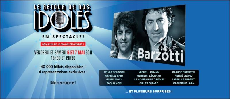 Blog de barzotti83 : Je ne sais plus comment te dire je ne trouve plus les mots ..Alors PARLE-MOI..(paroles de J.Kaplan), La tournée des idoles au Québec ce 6 et 7 mai 2011