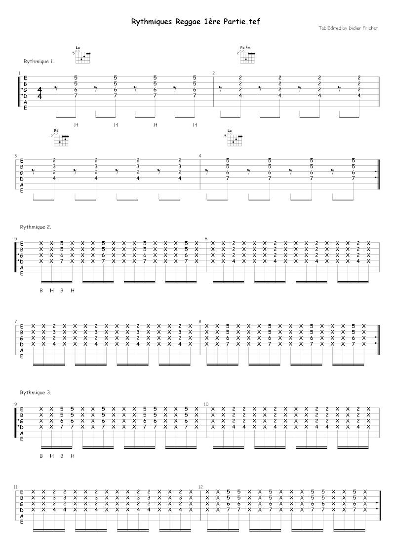partition guitare musique antillaise