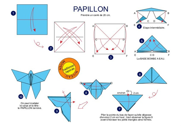 16 au 31 mai papillon en origami - Origami facile en video ...