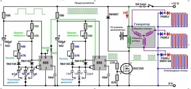 Схема генератор браун