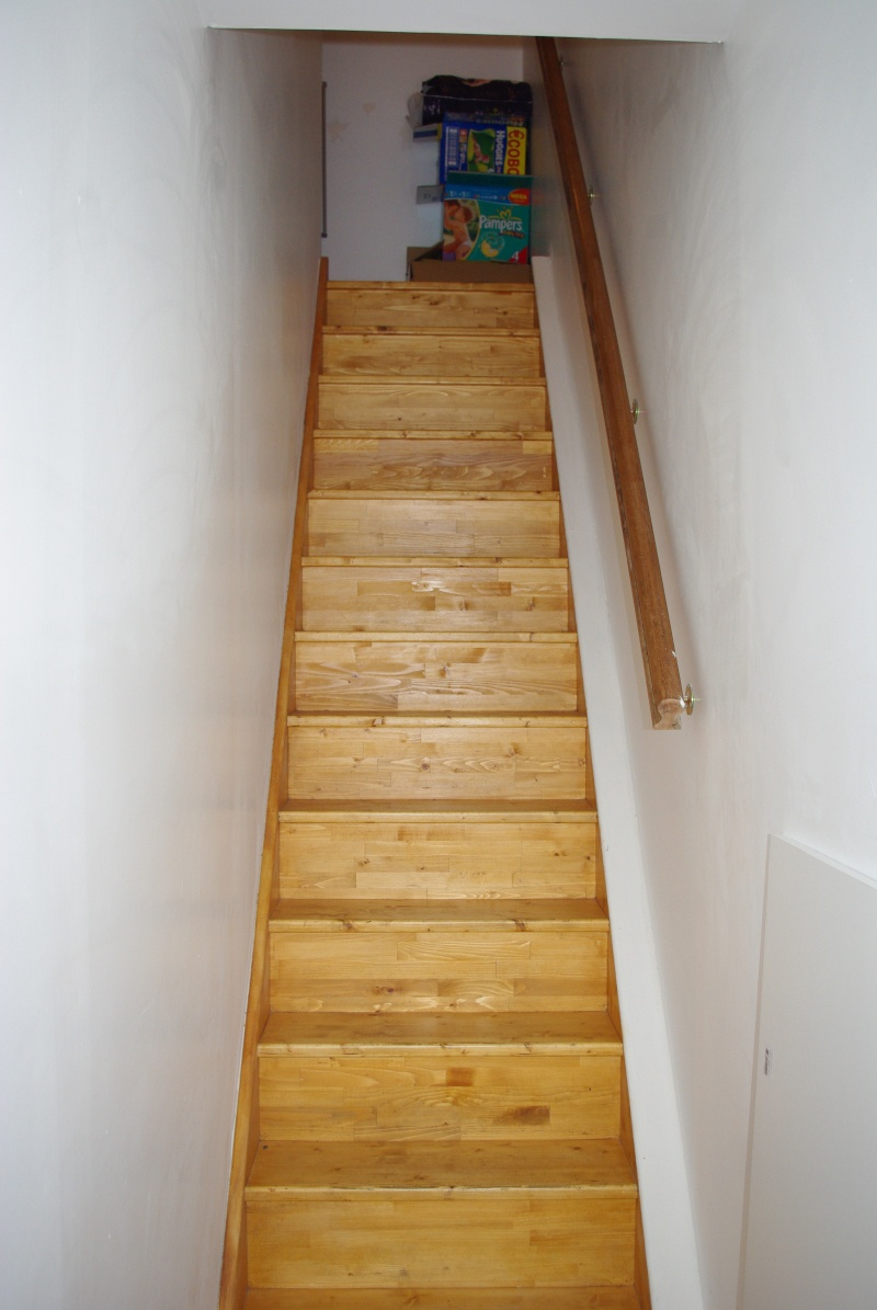 Des id es d co pour cage d 39 escalier palier et couloir merci d 39 avance - Escalier fixe au mur ...