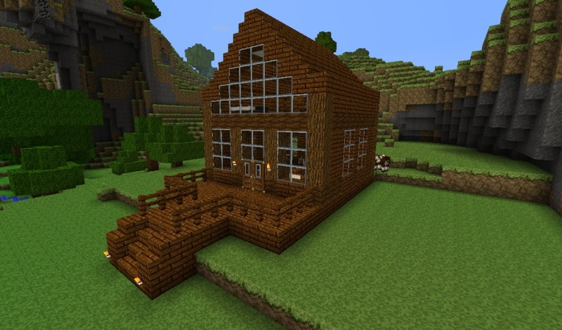 Minecraft Log Cabin. cabin10 jpg  800 469    Games   Minecraft Ideas   Pinterest