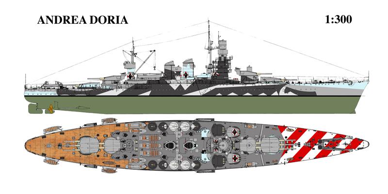 Corazzata andrea doria 1941 for Andrea doria nave da guerra