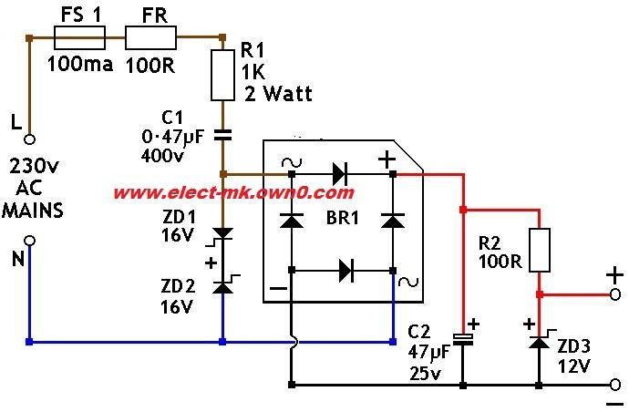 transformer less 220 110 volt to 12 volt dc. Black Bedroom Furniture Sets. Home Design Ideas