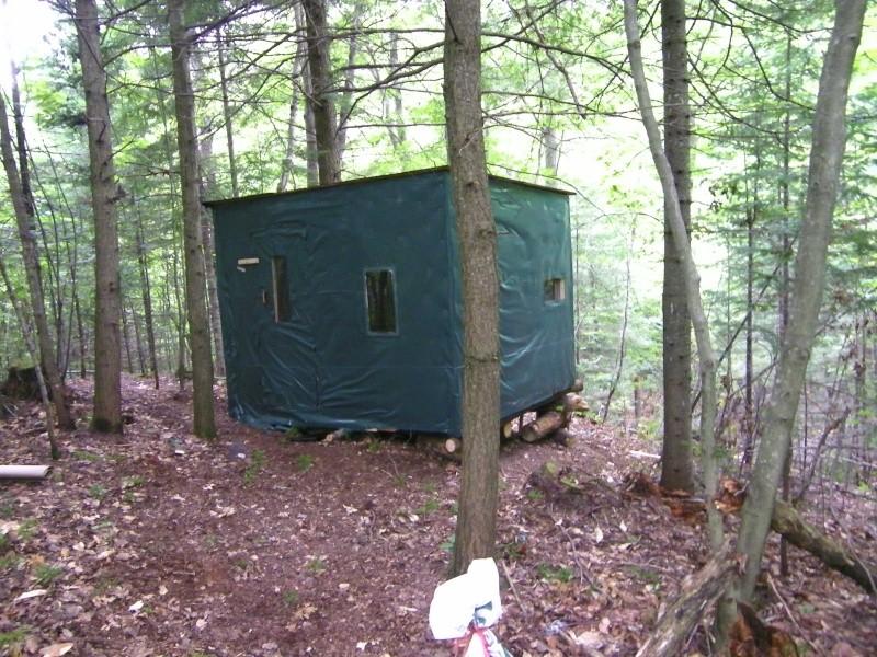 construction cabane chasseur