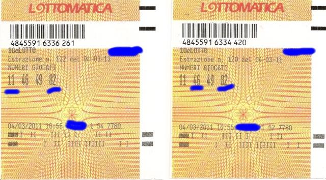 10 e lotto ogni 5 minuti esiti del 10 03 11 for Estrazione del 10 e lotto ogni 5 minuti