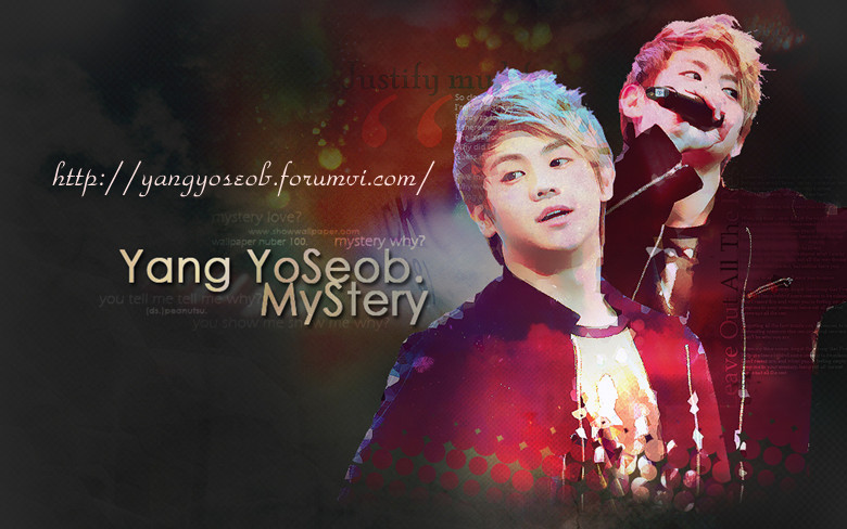 YANG YO SEOB FIRST VIETNAMESE FANSITE